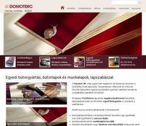 A Domoterc Kft. honlapja – a fejlesztésnek köszönhetően kétszer annyi oldalt néznek meg a látogatók…